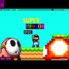 super mario bros MEGA mushroom - Physics Game by caswerd76gard