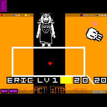 Undertale Asriel Dreemurr Fight Pt1 - Physics Game by