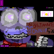 nightmare bonnie simulator - Physics Game by pupcup123
