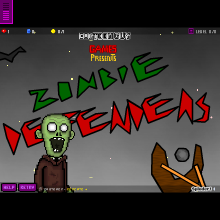 Click to play Zombie Defenders